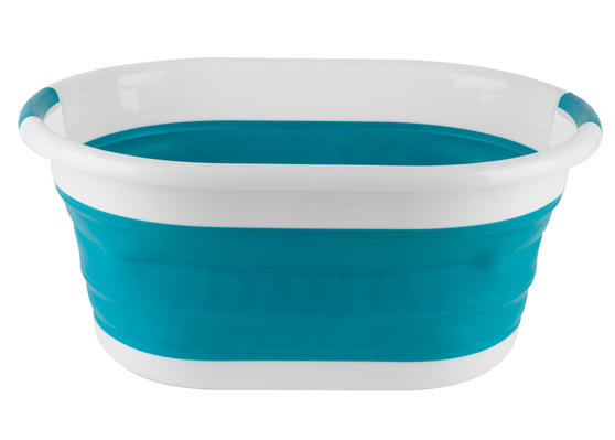 Beldray Oval Collapsible Laundry Basket, Turquoise Thumbnail 1