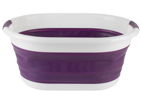 Beldray LA034816P Oval Collapsible Laundry Basket, Purple