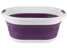 Beldray LA034816P Oval Collapsible Laundry Basket, Purple Thumbnail 1