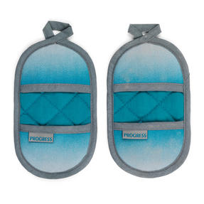Progress Performance Magnetic Microwave Mitts, Teal/Grey