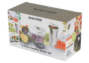 Salter 3 Piece Healthy Preparation Starter Set, Green/White Thumbnail 8