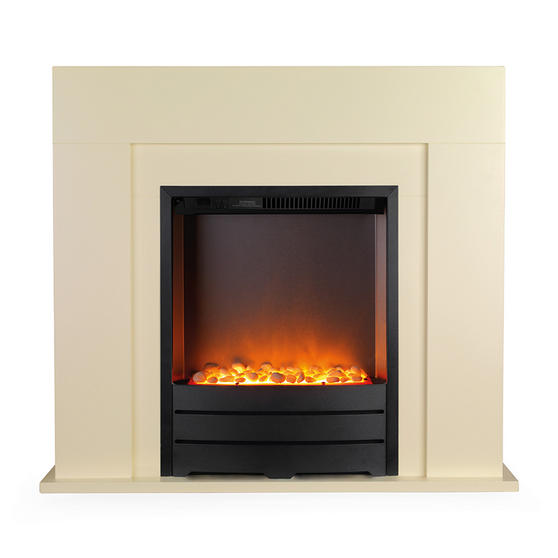 Beldray Siena Electric Fire Suite and Surround, 2000 W, Cream Thumbnail 1
