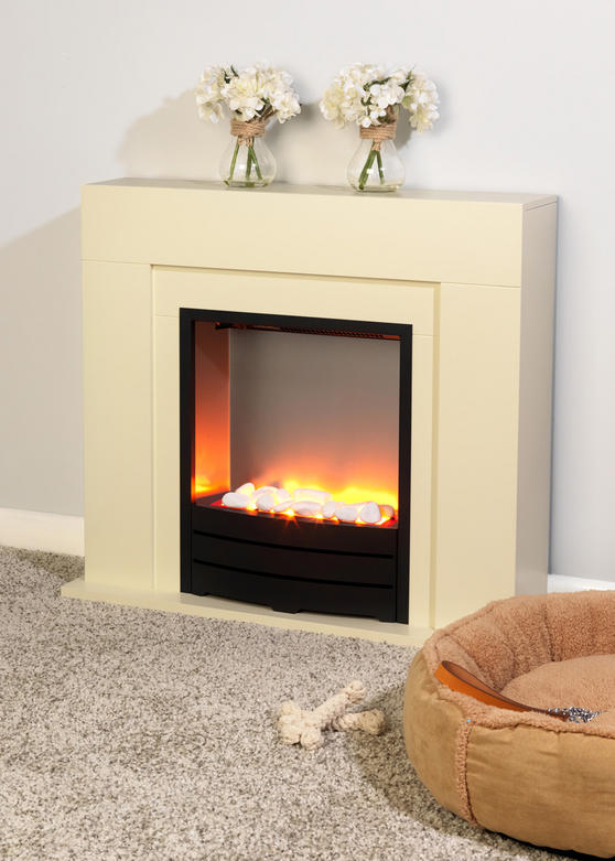 Beldray Siena Electric Fire Suite and Surround, 2000 W, Cream Thumbnail 2