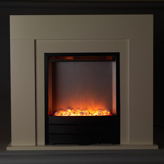 Beldray Siena Electric Fire Suite and Surround, 2000 W, Cream Thumbnail 3