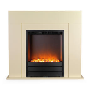 Beldray EH1697 Siena Electric Fire Suite and Surround, 2000 W, Cream
