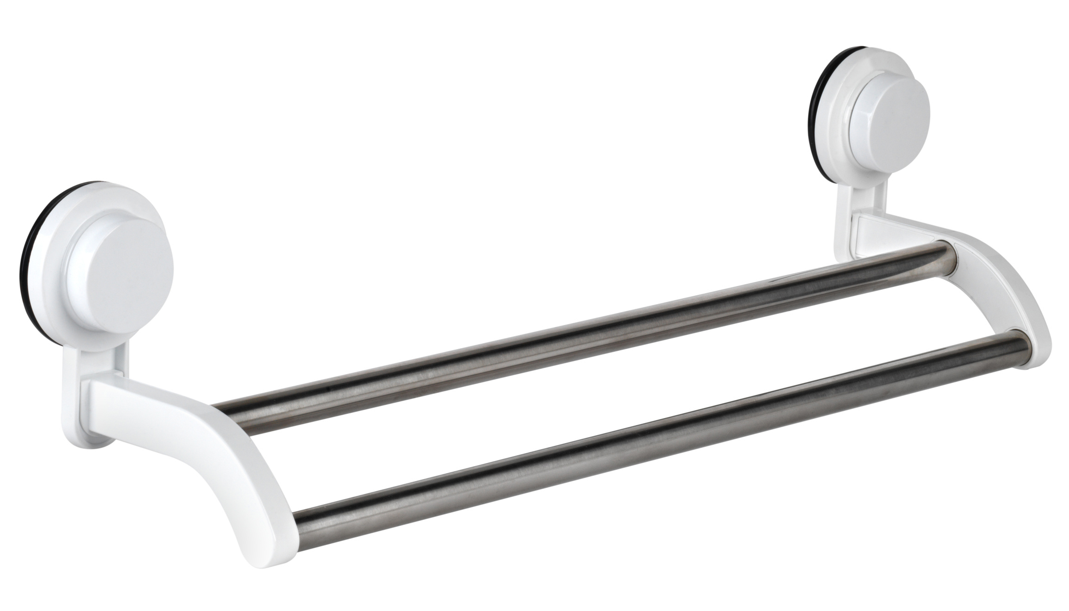 Beldray la046512 suction double towel rail rack bathroom for Rack for bathroom accessories