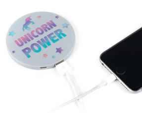 Intempo EG0426UNIMAT Slimline Power Source for Smartphones with Mirror, 2000 mAh, Unicorn Thumbnail 3