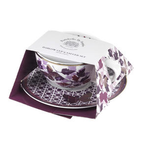Portobello CM04907X4 Harlow Bone China Cup and Saucer, Set of 4 Thumbnail 2