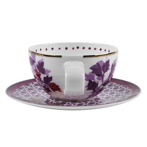 Portobello CM04907X4 Harlow Bone China Cup and Saucer, Set of 4 Thumbnail 6