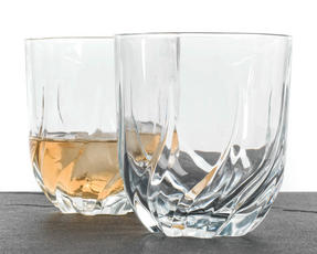RCR 25122020006 Twist Crystal Short Whisky Water Tumblers Glasses, 400 ml, Set of 2 Thumbnail 2