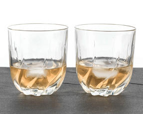 RCR 25122020006 Twist Crystal Short Whisky Water Tumblers Glasses, 400 ml, Set of 2 Thumbnail 3