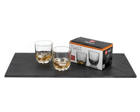 RCR 25122020006 Twist Crystal Short Whisky Water Tumblers Glasses, 400 ml, Set of 2 Thumbnail 4