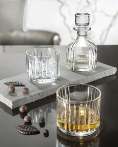RCR 25535020206 Crystal Combo 3 Piece Set Stackable Whisky Decanter and Tumblers Thumbnail 4