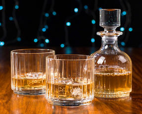 RCR 25535020206 Crystal Combo 3 Piece Set Stackable Whisky Decanter and Tumblers Thumbnail 5
