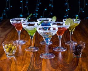 RCR 25559020006 Fusion Crystal Party Cocktail Set of 6 Margarita Glasses and 2 Small Party Bowls Thumbnail 3
