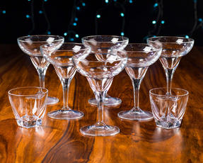 RCR 25559020006 Fusion Crystal Party Cocktail Set of 6 Margarita Glasses and 2 Small Party Bowls Thumbnail 4