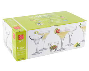 RCR 25559020006 Fusion Crystal Party Cocktail Set of 6 Margarita Glasses and 2 Small Party Bowls Thumbnail 5