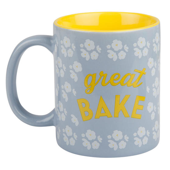 Great British Bake Off 88200206C Great Bake GBBO Printed Gift Mug, Pale Blue