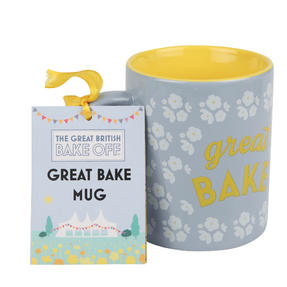Great British Bake Off 88200206C Great Bake GBBO Printed Gift Mug, Pale Blue Thumbnail 2