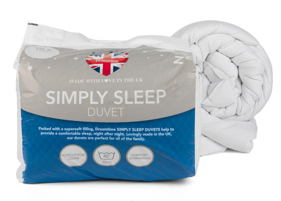 Dreamtime MFDT15094UP Simply Sleep 10.5 Tog Duvet, Polyester, Double, White