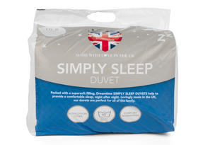 Dreamtime MFDT15094UP Simply Sleep 10.5 Tog Duvet, Polyester, Double, White Thumbnail 2