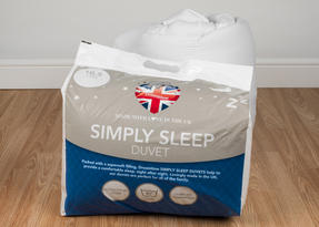 Dreamtime MFDT15094UP Simply Sleep 10.5 Tog Duvet, Polyester, Double, White Thumbnail 4