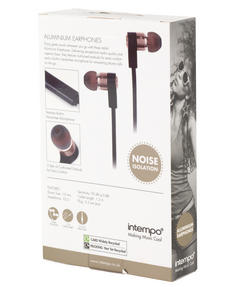 Intempo EE1212RG Metal Earphones, Rose Gold Thumbnail 5
