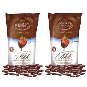 Giles & Posner EK1603 Belgian Milk Chocolate, 450 g, Pack of Two