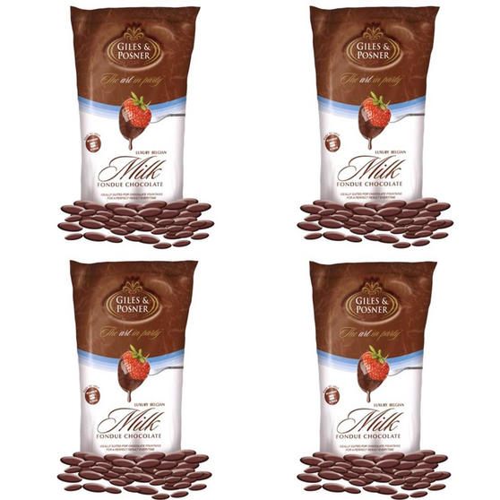 Giles & Posner EK1603 Belgian Milk Chocolate, 450 g, Pack of Four