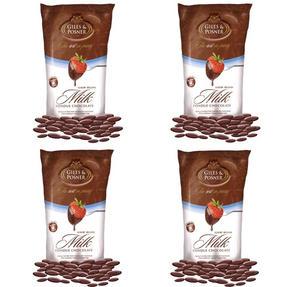 Giles & Posner EK1603 Belgian Milk Chocolate, 450 g, Pack of Four Thumbnail 1