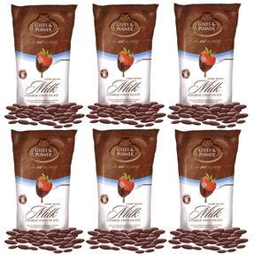 Giles & Posner EK1603 Belgian Milk Chocolate, 450 g, Pack of Six