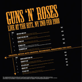 Intempo EE2276 Guns 'N' Roses Live At The Ritz LP Vinyl Record Thumbnail 2