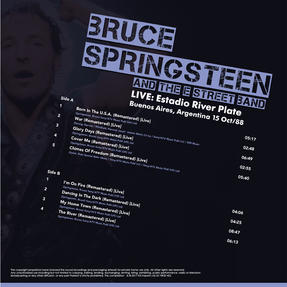 "Intempo EE2278 Bruce Springsteen and The Street Band LP Vinyl Record, Estadio River Plate 1988, Remasterd, 12"" Thumbnail 2"
