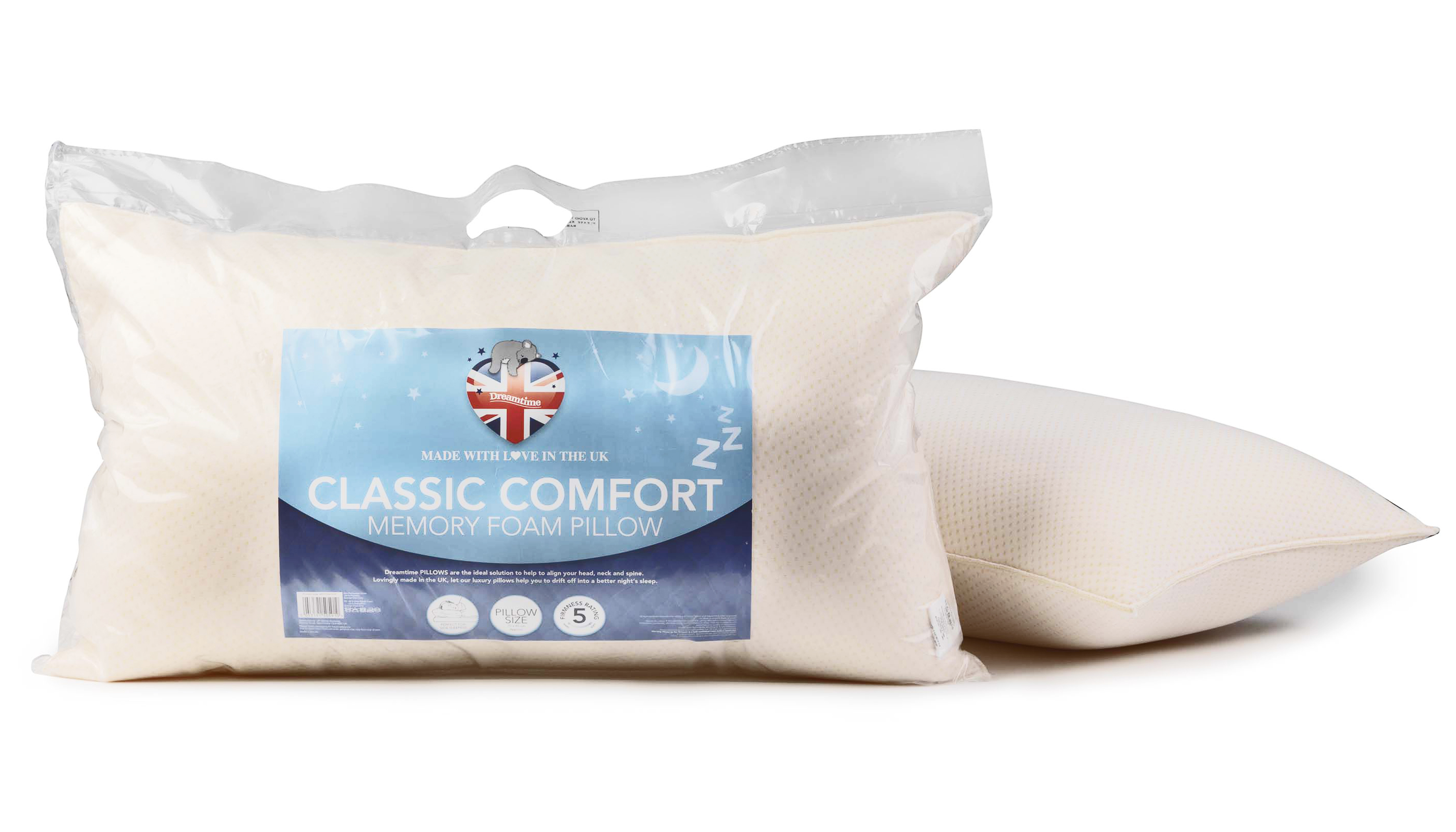 Dreamtime MFDT05910 Classic Comfort Memory Foam Pillow Set of Two