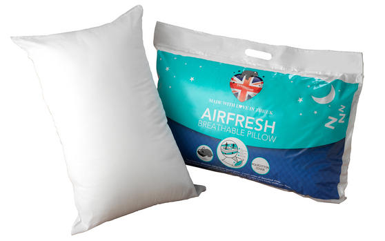 Dreamtime MF02575UP Airfresh Breathable Pillow, Polyester, White, Set of Two