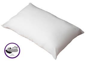 Dreamtime MF02599UP Sleep Support Memory Foam Core Pillow, Cotton, White, Set of Two Thumbnail 3