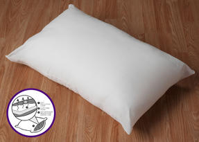 Dreamtime MF02599UP Sleep Support Memory Foam Core Pillow, Cotton, White, Set of Two Thumbnail 5