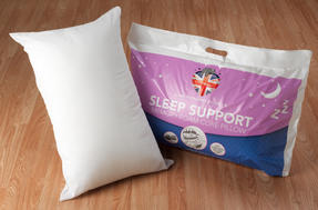 Dreamtime MF02599UP Sleep Support Memory Foam Core Pillow, Cotton, White, Set of Two Thumbnail 6
