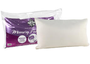 Dreamtime MFDT09031 Memory Foam Pillow, White, Set of Two