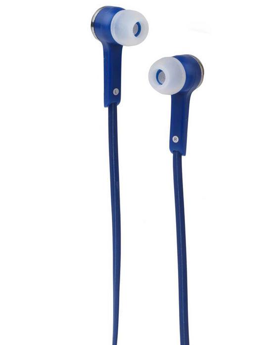 Intempo EE1211BLU Flat Cable Earphones, Blue