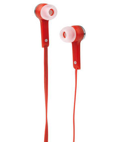 Intempo EE1211RED Flat Cable Earphones, Red