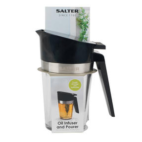 Salter Oil Infuser and Pourer, 200 ml, Black Thumbnail 4