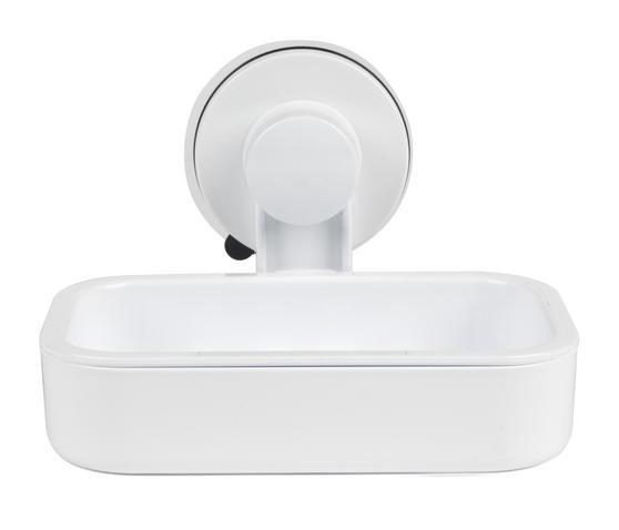 Beldray LA043238 Plastic Suction Soap Dish, White
