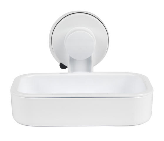 Beldray Plastic Suction Soap Dish, White Thumbnail 1