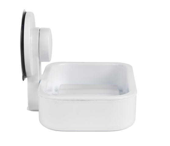 Beldray Plastic Suction Soap Dish, White Thumbnail 5