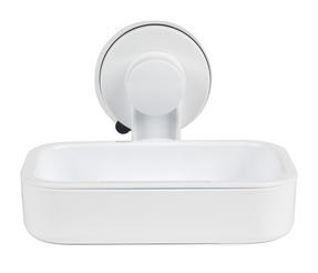 Beldray LA043238 Plastic Suction Soap Dish, White
