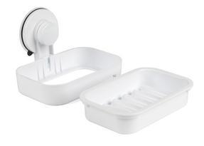 Beldray LA043238 Plastic Suction Soap Dish, White Thumbnail 2