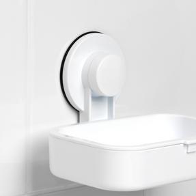 Beldray LA043238 Plastic Suction Soap Dish, White Thumbnail 6