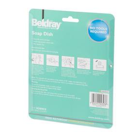 Beldray LA043238 Plastic Suction Soap Dish, White Thumbnail 8