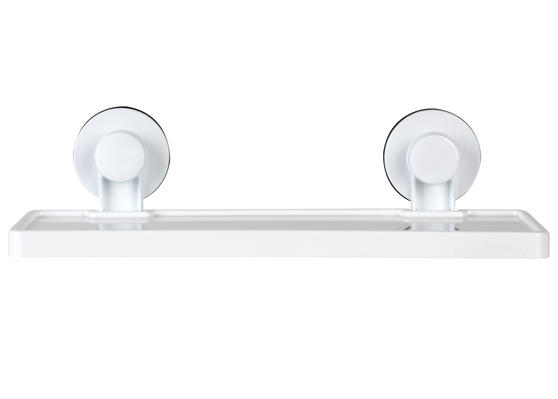 Beldray Plastic Suction Bathroom Shelf, White Thumbnail 1